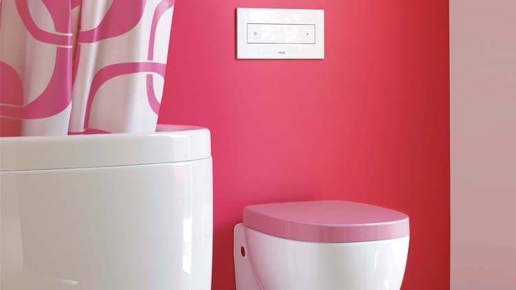 Reece Laufen Mimo toilet pink_L
