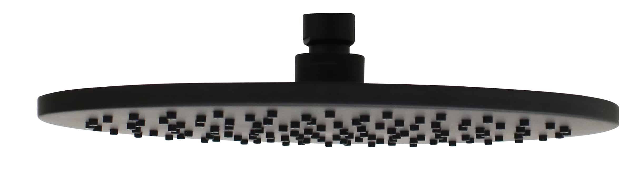 Eden Matte Black Shower Head Plumbing Connection