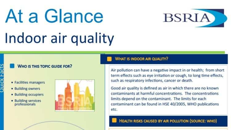 BSRIA launches Indoor Air Quality guide