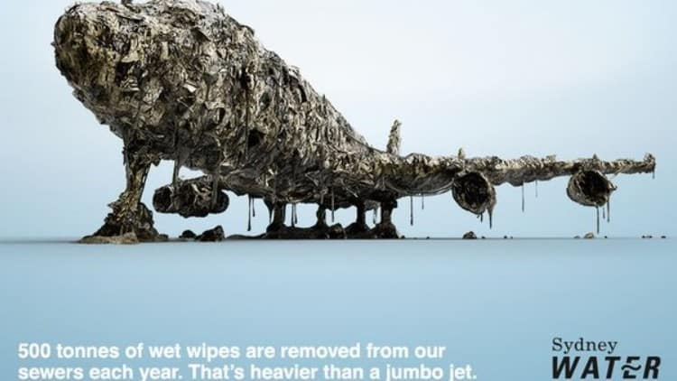 Sydney Water wins international PR Award for keep wipes out of the pipes campaign