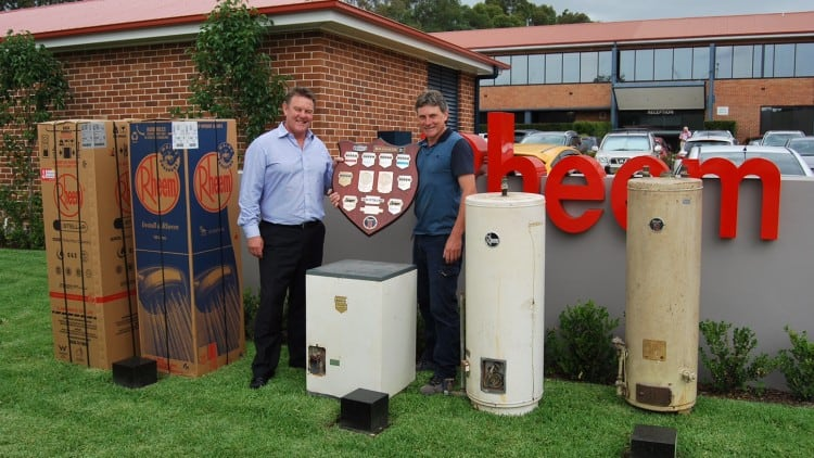 Rheem installer and 'super fan' adds six millionth water heater to historic collection