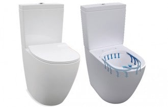 Enware rimless toilet suite