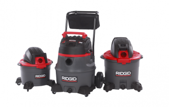 RIDGID new wet/dry vacs